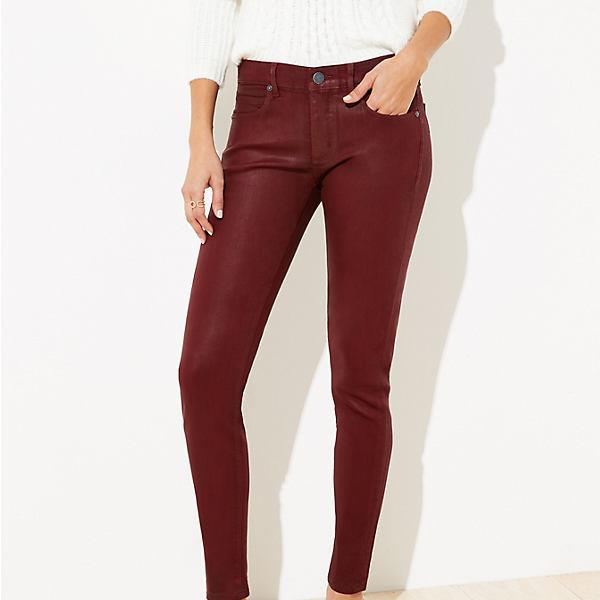 LOFT Coated Slim Pocket Skinny Jeans