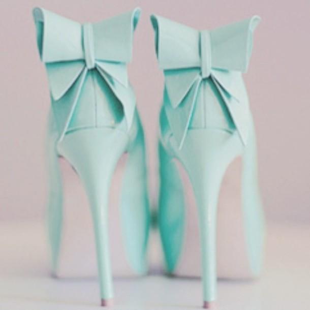 Shoes mint tiffany blue heels pumps party shoes bow light mint tiffany blue heels pumps party shoes shoes bow light blue high heels ribbon blue tiffany junglespirit Images