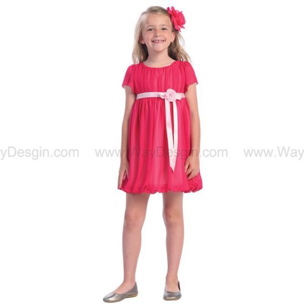fuchsia dress dress flower girl dresses