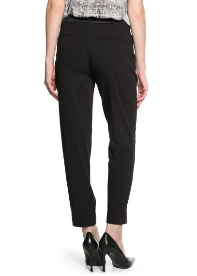 MANGO - CLOTHING - Coats - Satin trim trousers