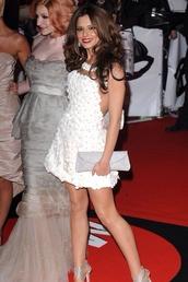 dress,white dress,floral,flare,beautiful,cheryl cole,girls aloud,celebrity style