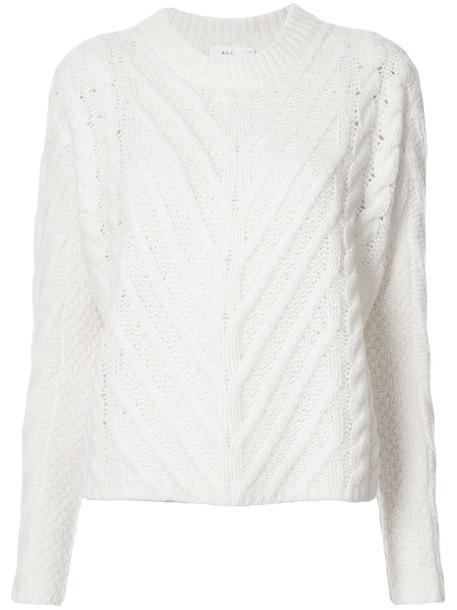 sweater women white silk wool knit