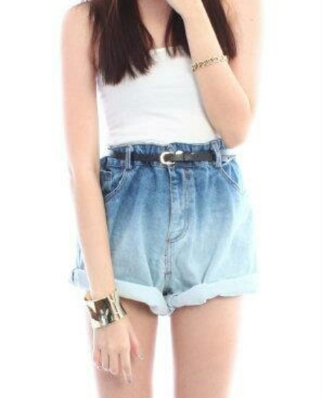 ombre shorts high waisted short ombre high waisted shorts