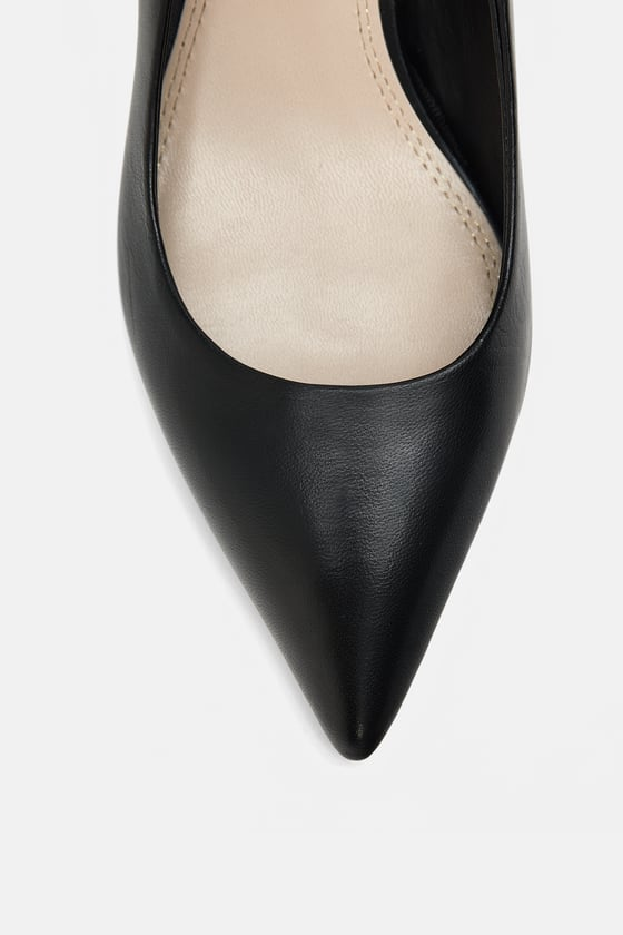 MID-HEEL LEATHER COURT SHOES