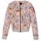 Printed quilted bomber jacket, $89.90, bershka