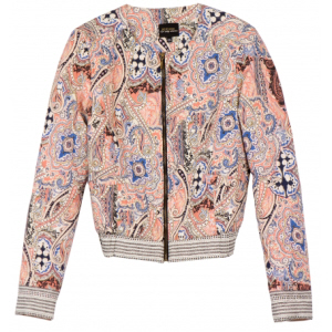 Printed quilted bomber jacket, $89.90, bershka