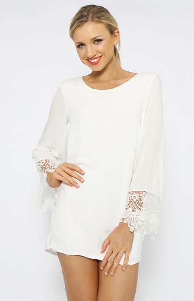 Boulevard Dress - White | Clothes | Peppermayo
