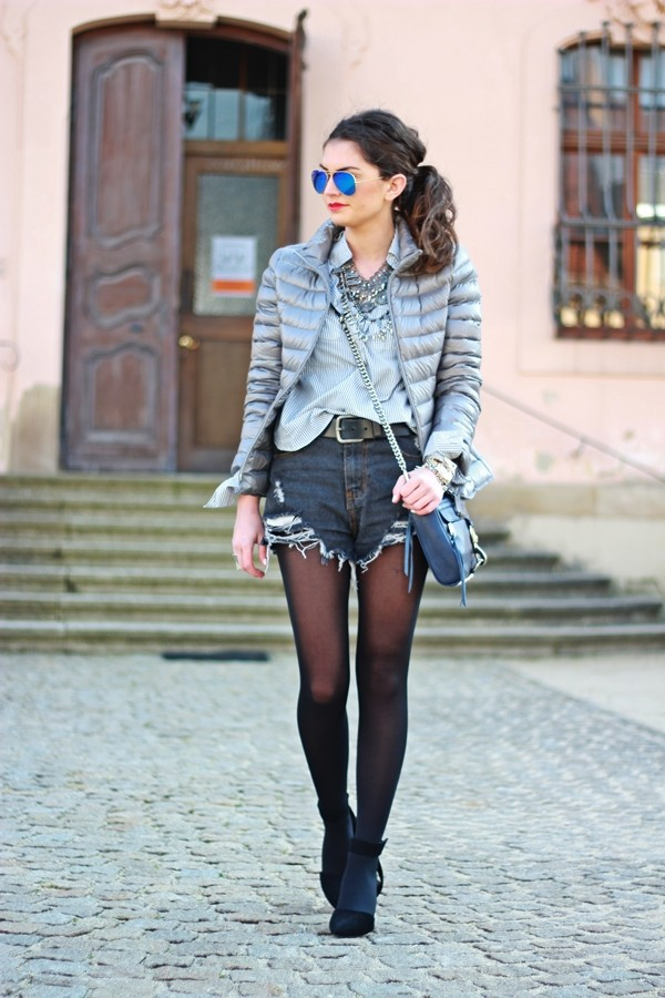 fashionhippieloves jacket blouse shorts shoes bag belt sunglasses jewels