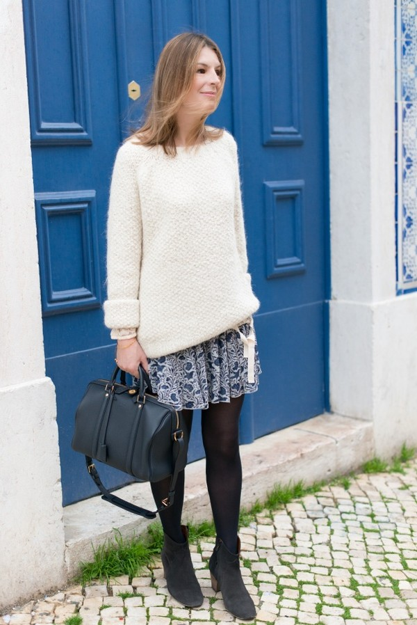 the working girl sweater bag shoes t-shirt skirt jewels