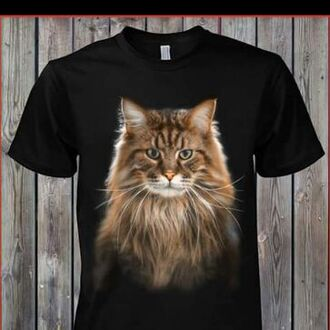 shirt black t-shirt cats