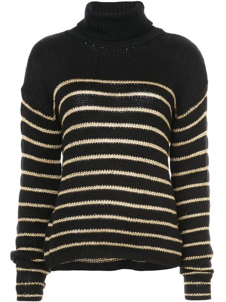 jumper metallic women cotton black sweater