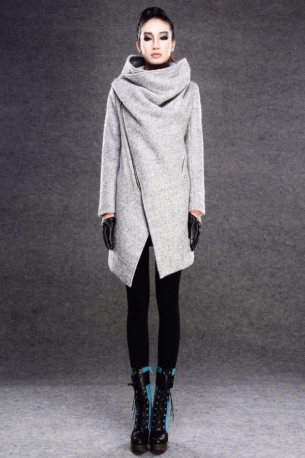 coat winter coat grey grey