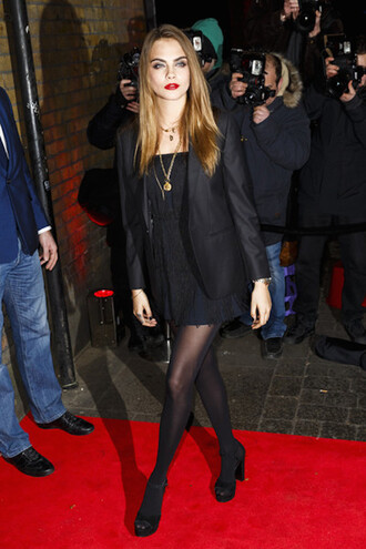 short dress cara delevingne little black dress
