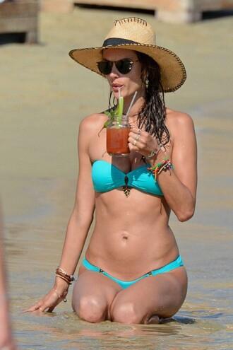 swimwear alessandra ambrosio bikini top bikini bottoms hat