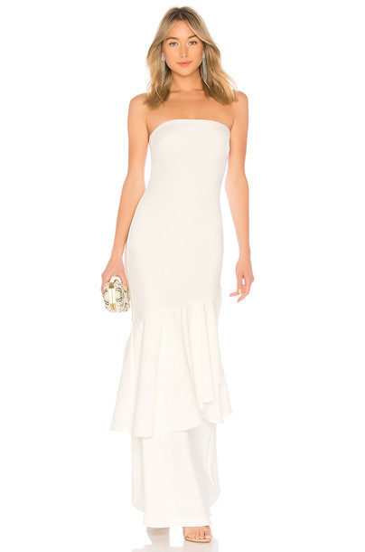 LIKELY Davey Gown in white