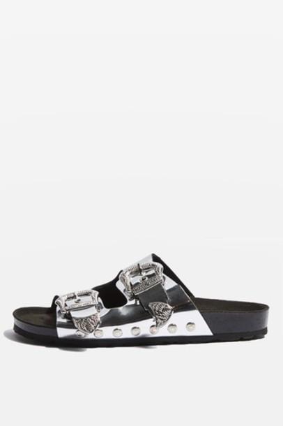 Topshop sandals silver shoes