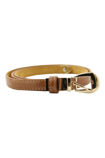 ROMWE | Slim Dark Yellow Stitching Waist Belt, The Latest Street Fashion