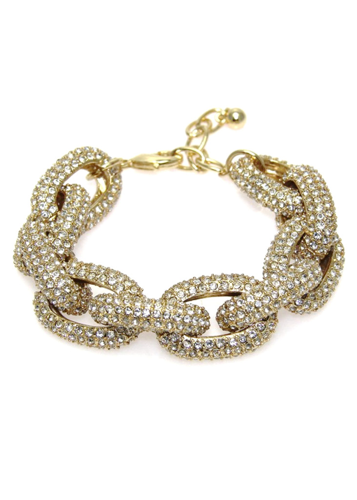 Pave Link Bracelet – Teal House Collection