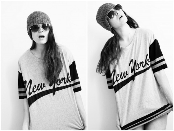 t-shirt varsity varsity tee new york city oversized oversized t-shirt fashion blogger Pop Couture