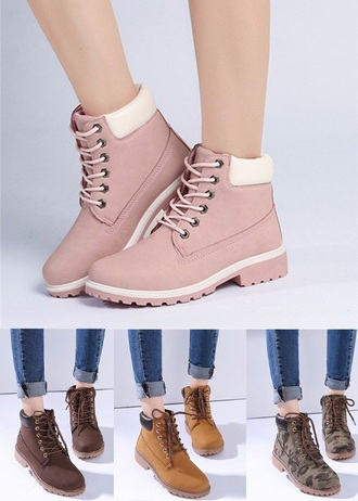 shoes footwear pink boots
