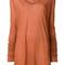 Rick owens - long-line t-shirt - women - cotton - 40, yellow/orange, cotton