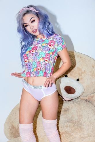 underwear yeah bunny cute pastel pink retro panties pants boyshorts