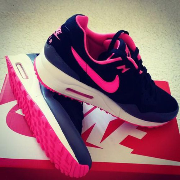 shoes nike pink black