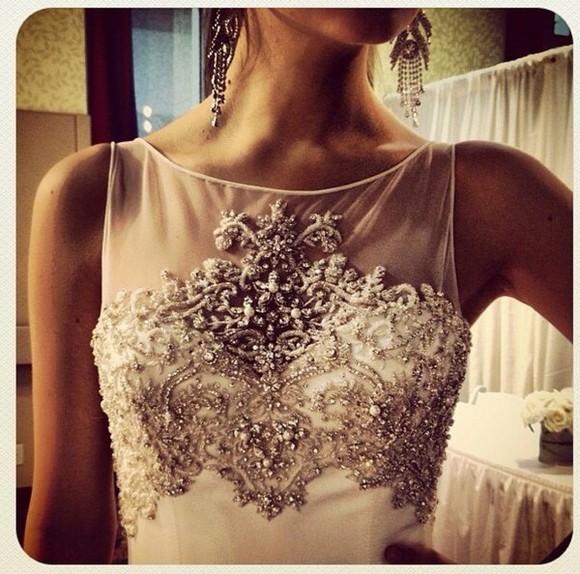crystal wedding clothes top