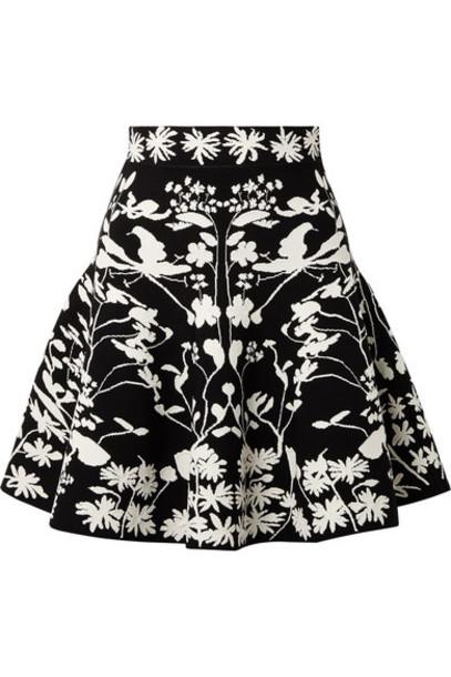 Alexander Mcqueen skirt mini skirt mini jacquard black knit