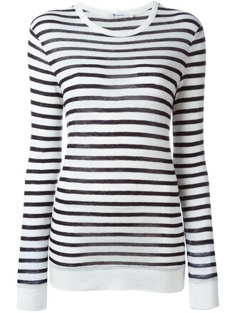 t-shirt shirt striped t-shirt blue top