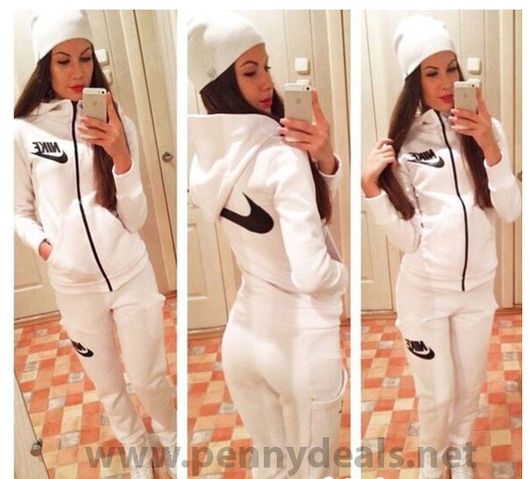New warm stylish women's white suit price including registered postage