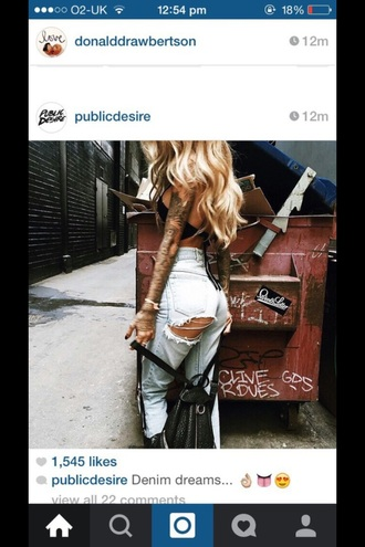 jeans blue jeans swag fashion long hair style sexy look best outfit blonde hair
