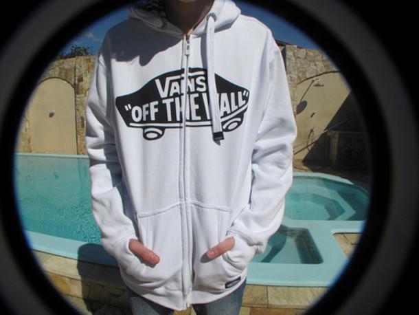 sweater, vans, sweatshirt, vans, white