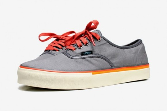 gris shoes vans orange