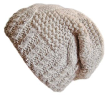Frost hats winter hat for women beige slouchy beanie hat knitted crystal winter hat frost hats one size beige at amazon women's clothing store: skull caps
