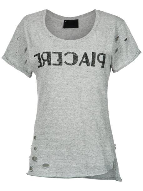 Andrea Bogosian t-shirt shirt printed t-shirt t-shirt women cotton grey top