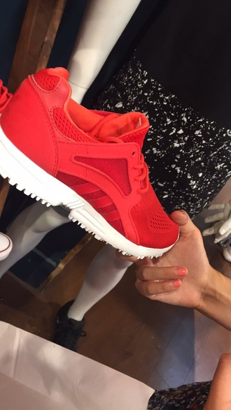 shoes red shoes adidas shoes style fashion gym running shoes running helpmefind