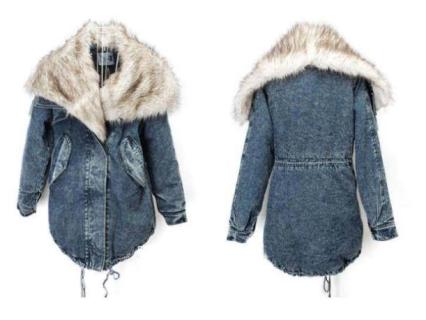 Denim Wadded Jacket