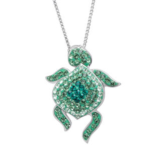 jewels turtle necklace sea turtle swarovski necklace crystaluxe sea turtle necklace swarovski
