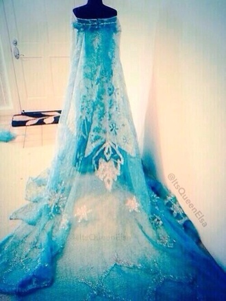 dress prom dress 2014 prom dresses elsa blue dress light blue blue prom dresses olaf disney princess disney princesses princess dress princess snowflake snowflakes cape veil dance homecoming dress homecoming dress sweetheart long sleeve dress long prom dress frozen