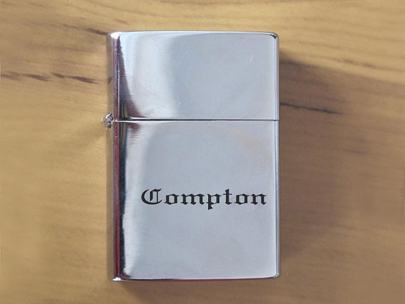 Gv761 compton eazye polished chrome finished lighter by yoyong