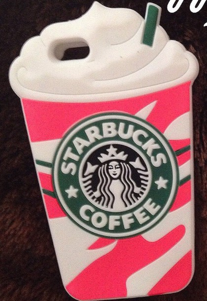 phone cover pink and white starbucks 5c phone  case