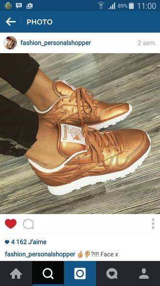 shoes gold reebok