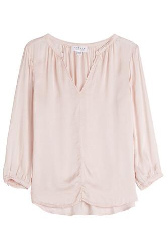blouse cotton rose top