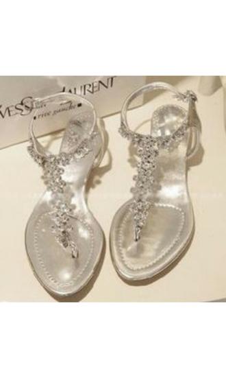 shoes yves saint laurent yves saint laurente shoes silver silver shoes beach shoes flat shoes prom shoes silver prom shoes