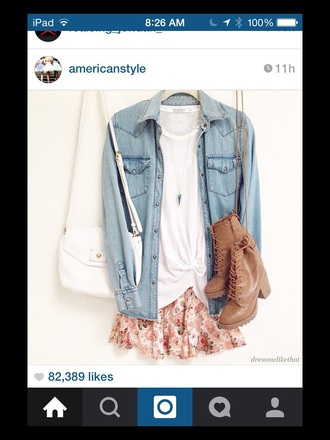 blouse blue blouse pink skirt white shirt floral skirt outfit skirt shirt t-shirt flannel shirt jeans dress