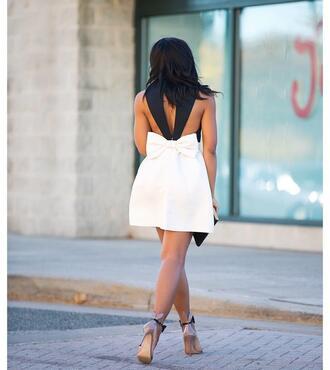 dress bow dress open back open back dresses backless dress backless bow sexy sexy dress date outfit