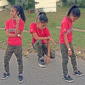 pants,camouflage,Blasian,shirt,cute or nah,young thug,khaki pants,shoes