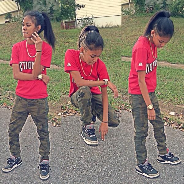 pants camouflage Blasian shirt cute or nah young thug khaki pants shoes