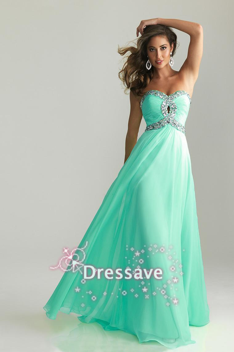 2014 Cheap Sweetheart Empire Prom Dresses Crystal Formal Evening ...